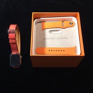 Apple/Hermès Series 2 Watch w/2 Bands